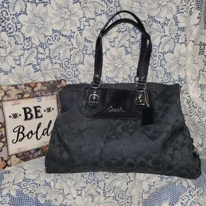 Coach Sateen Ashley Satchel Handbag-B1160-F15510